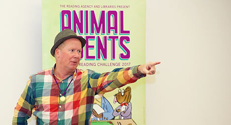 Kevin Graal storytelling at Summer Reading Challenge