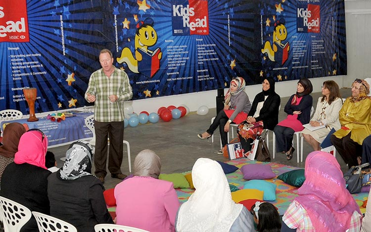 Kevin Graal training with British Council Kids Read